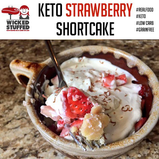 Keto Strawberry Shortcake | Recipe | Chocolate whipped cream, Almonds and Whipped cream desserts