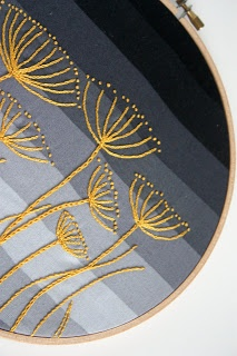 Golden grasses embroidery: Lime Riot