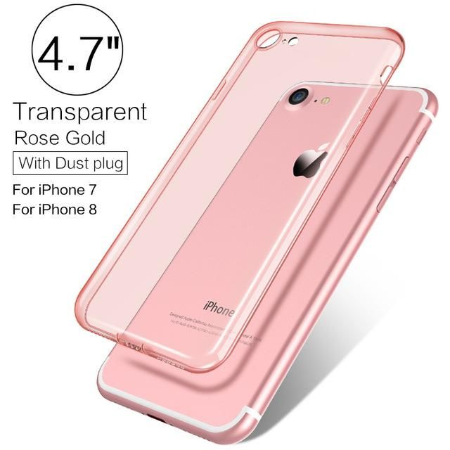 PZOZ Luxury Brand TPU Silicon Slim Clear 360 Transparent Silicone Case Cover For Apple iPhone 7 Plus 7Plus iPhone 8 Phone iPone