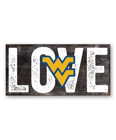 Look at this #zulilyfind! West Virginia Mountaineers 'Love' Sign #zulilyfinds