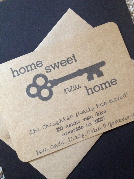 Home Sweet New Home Change of Address Card by SimpleandPosh