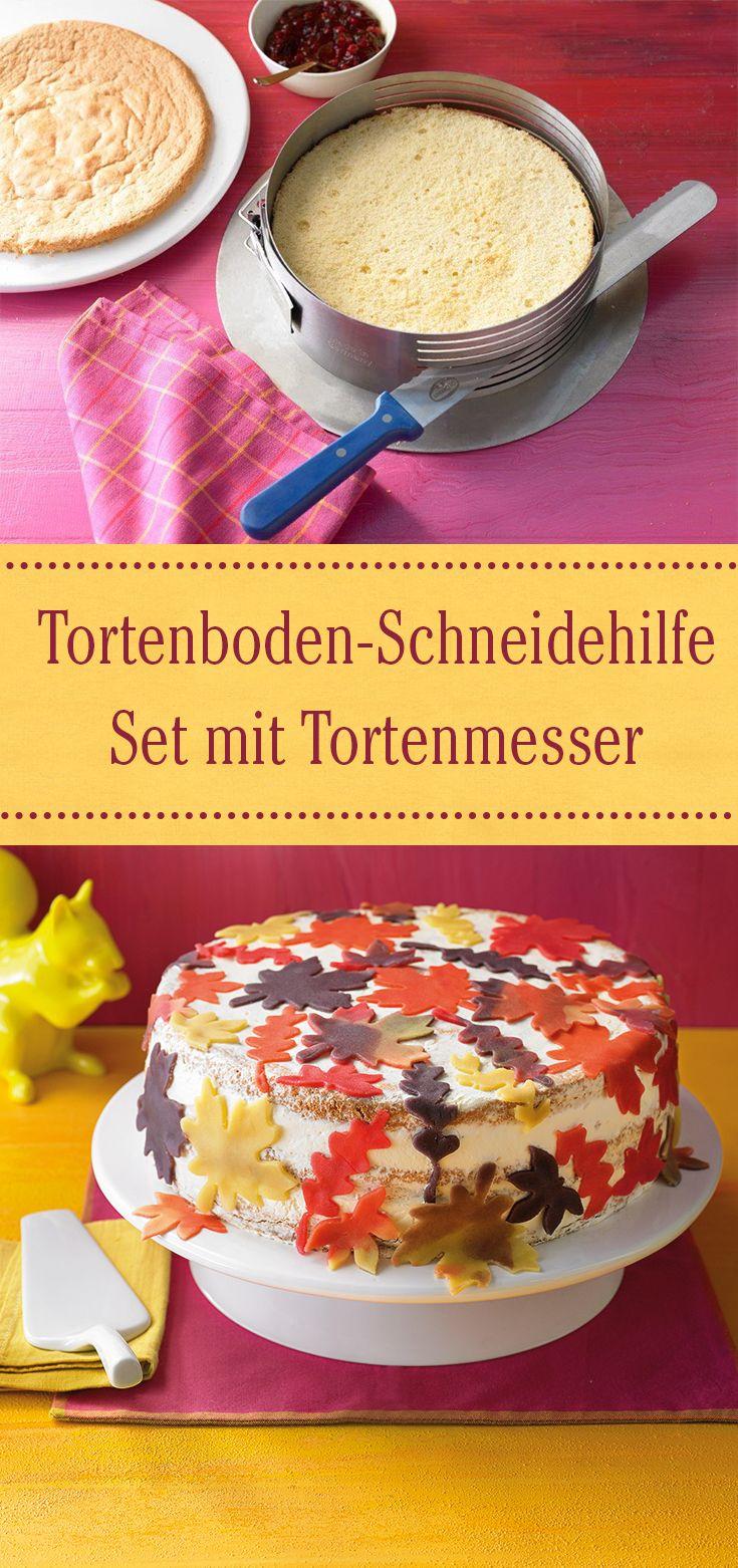 Ein besonders praktisches Geschenk für alle Tortenkünstler: Das Schneidehilfe Set mit Tortenmesser
