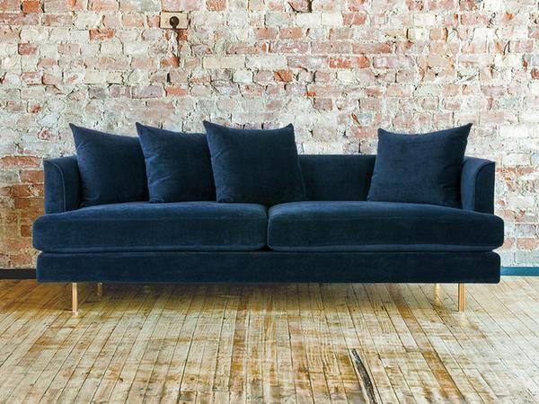 Margot Midnight Blue Velvet Sofa