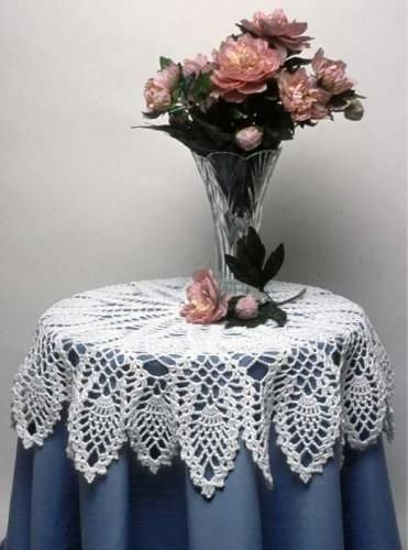 """Watch Maggie review this beautiful Pineapple Doily and Table Topper Crochet Pattern! Design By: Maggie Weldon Skill Level: Intermediate Sizes: Table Topper: 36"""""""