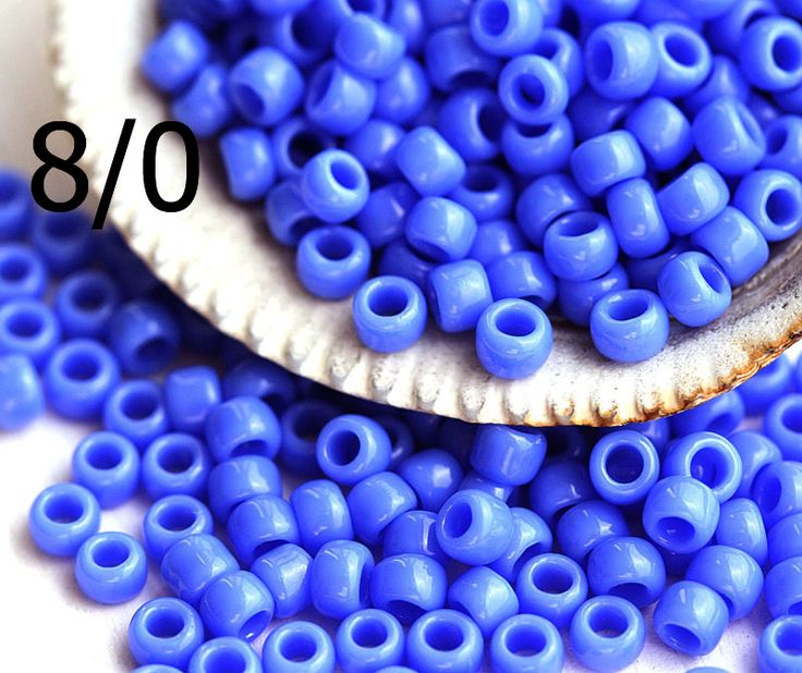 8/0 Toho Seed Beads N 48L Opaque Periwinkle 10g - MayaHoneyBead