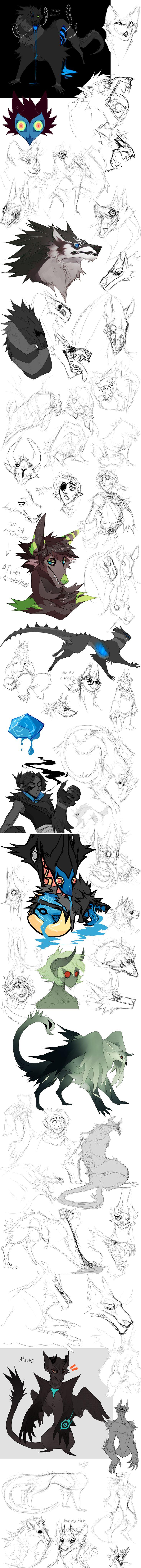 Sketch Dump no.17 by Dusty-Demon.deviantart.com on @DeviantArt