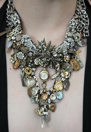 Neck piece with Vintage. Amazing work! Curleytop1.