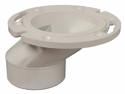 PlumBest C54402 3-Inch by 4-Inch PVC Offset Closet Flange