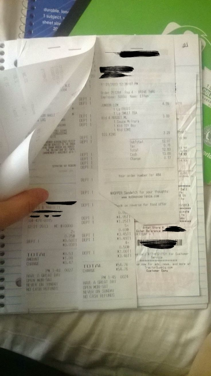 Becoming Blameless: Managing and Organizing Receipts