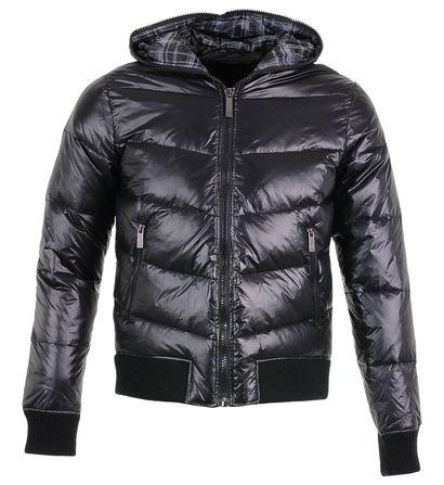 Doudoune courte matelassée à capuche Avant Premiere Noir pour Homme prix promo Galeries Lafayette 129.99 € TTC