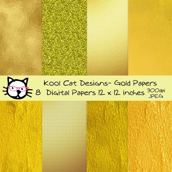 photograph regarding Printable Foil Paper identified as Gold Papers Electronic Paper Pack - Gold Foil Papers