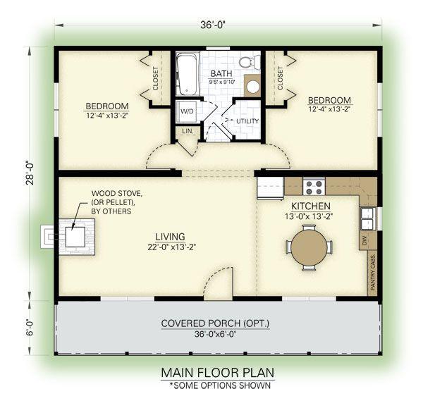 Great cottage floor plan – love the arrangement bu…