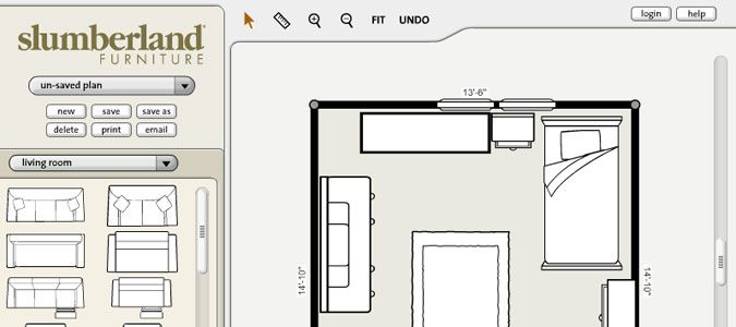 free online room planner to plan out the space for new
