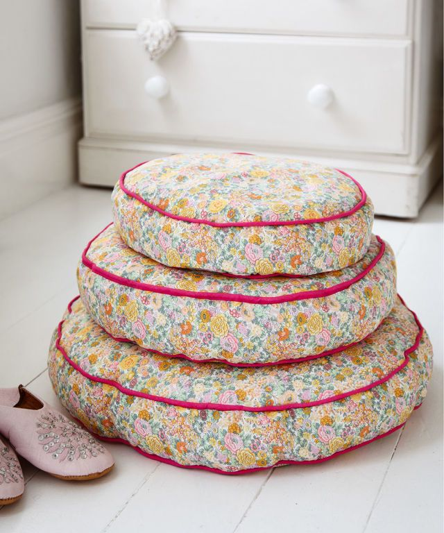 Make floral bean-bag floor cushions for your home prima.co.uk