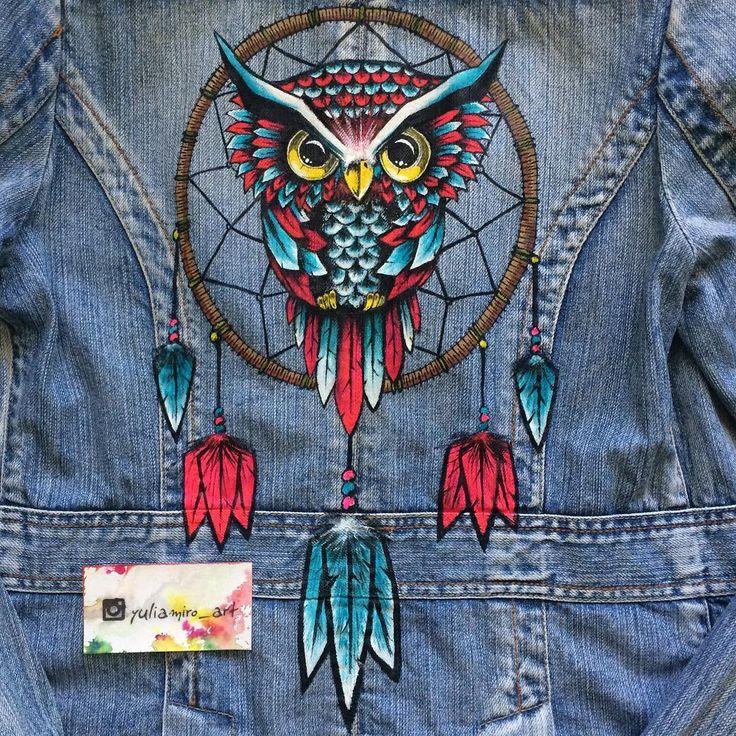 рисунок на джинсовой куртке акриловыми красками проект