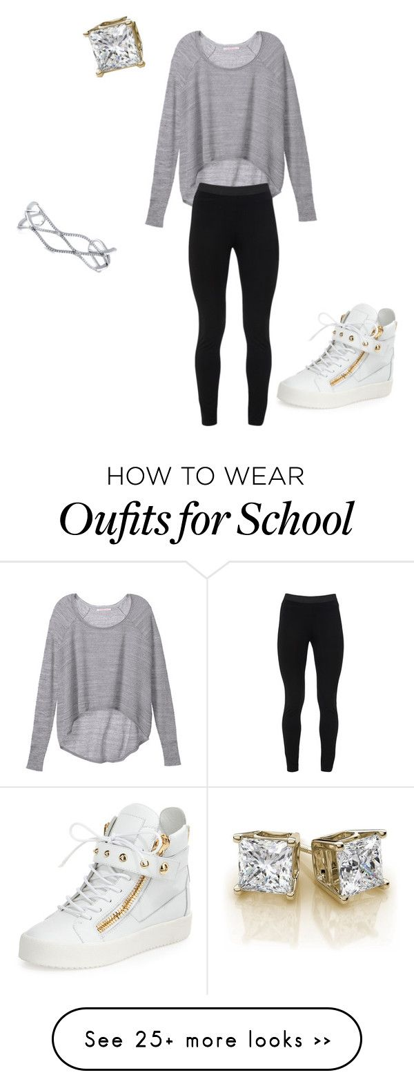 """back to school"" by stylesqueen10 on Polyvore featuring Victoria's Secret, Peace of Cloth, BERRICLE and Giuseppe Zanotti"