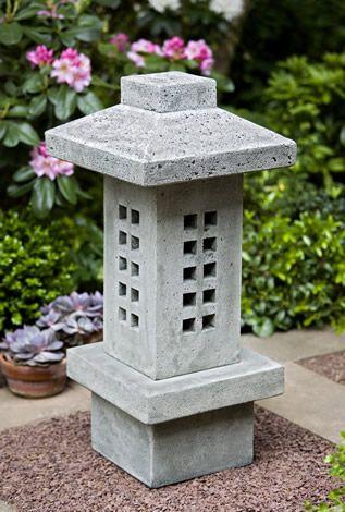 Campania International Naka Lantern Cast Stone Garden Statue   Garden  Statues At Hayneedle