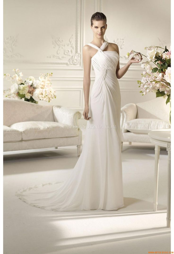 105 best wedding dresses online ireland images on pinterest rk bridal in nyc white one spring 2013 nuria a division of pronovias chiffon criss cross pleated bust a line gown shown with morbido tulle veil style ombrellifo Choice Image