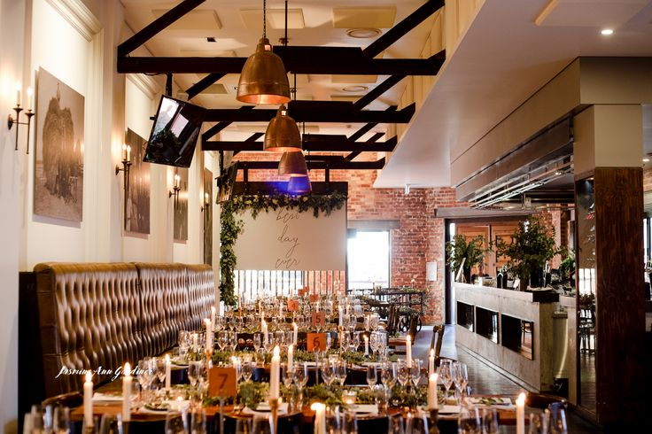 """DY.o events (aka Duo) """"Best Day Ever"""" Signage over candle-lit tablescapes. Earthy and warm"""