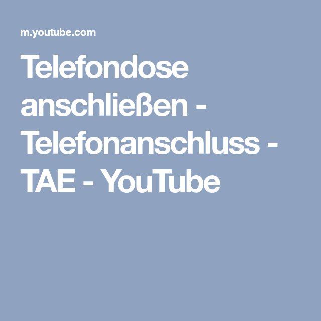 Telefondose anschließen - Telefonanschluss - TAE - YouTube