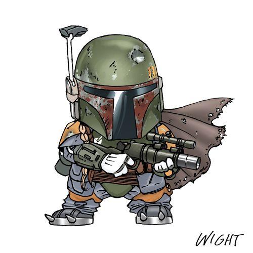 Fun STAR WARS Alphabet Character Art