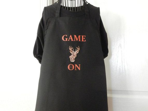 GAME ON BBQ Aprons for men Novelty Apron Gift by SELECTAPRONS