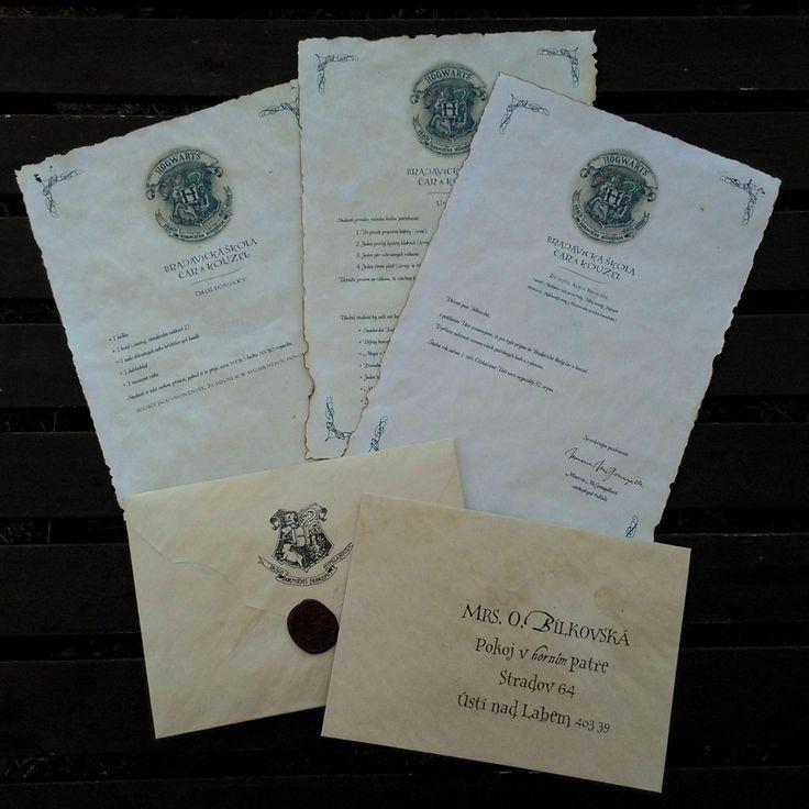 Dopis+z+Bradavic/Hogwarts+acceptance+letter+Ještě+Vám+nepřišel+dlouho+očekávaný+dopis+ze+školy+čar+a+kouzel+v+Bradavicích?+Nezoufejte,+nyní+máte+možnost+jej+obdržet!+Součástí+dopisu+jsou:+obálka+s+pečetí+3x+A4+listy+obsahující+základní+informace+o+přijetí,+seznam+pomůcek+a+učebnic+cestovní+lístek+na+Londýnský+Expres+Vše+je+zpracované+se+snahou+o+největší...