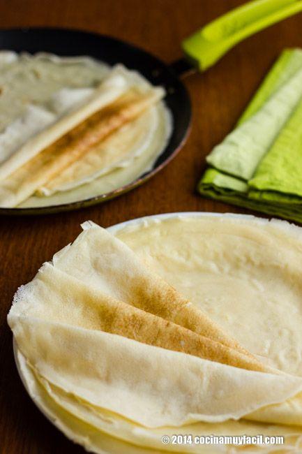 Cómo hacer crêpes. Receta | Cocina Muy Fácil | http://cocinamuyfacil.com