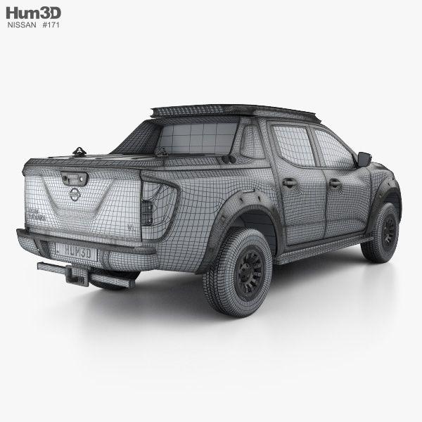 3D model of Nissan Navara EnGuard 2016