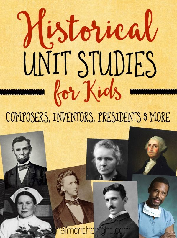 Here are 40+ FREE Historical unit studies for kids in grades 1-6. These are a great way to study history!     Here are additional free hi