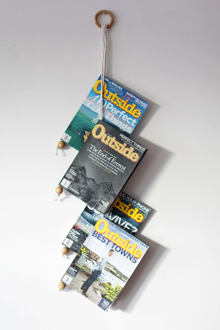 DIY hanger magazine - revistero colgante