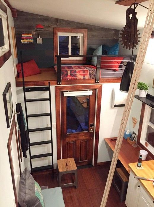 In the interior design giving it a very luxurious yet rustic feel. #TinyHouseforUs