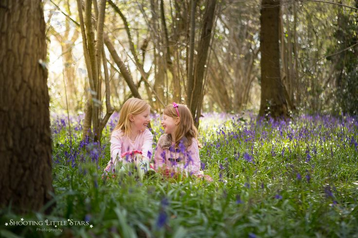 Child Bluebell Photography