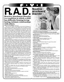 Reactive Attachment Disorder Reactive Attachment Disorder