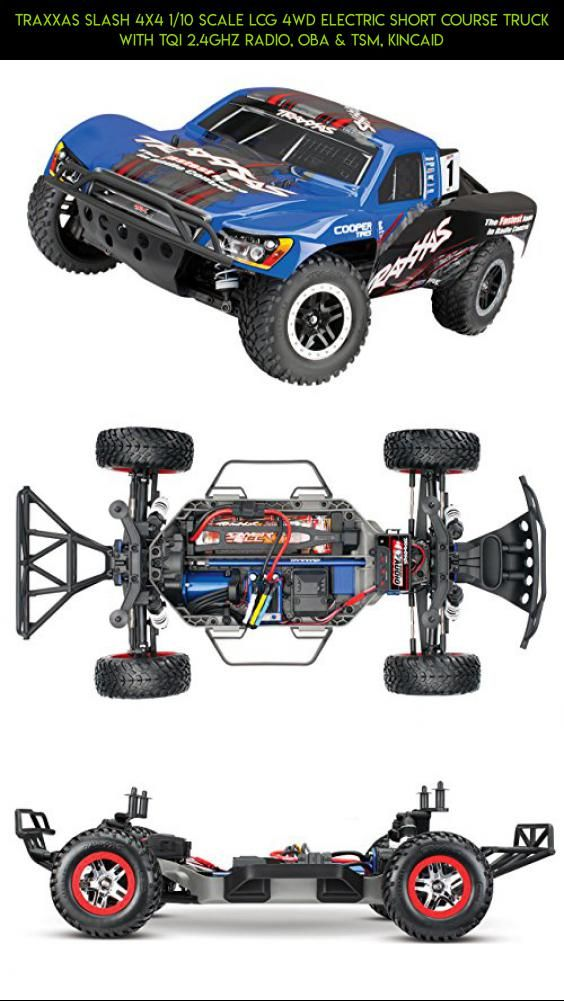 Traxxas Slash 4X4 1/10 Scale LCG 4WD Electric Short Course Truck with TQi 2.4GHz Radio, OBA & TSM, Kincaid #kit #products #tech #parts #technology #shopping #gadgets #kincaid #traxxas #plans #drone #camera #racing #fpv