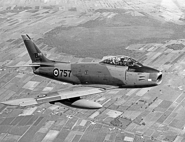 Canadair Sabre 6 in flight  (CASM-33024)