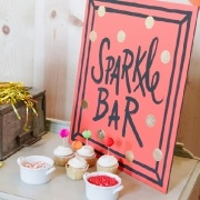Cupcake Decorating Party ~Sparkle Bar for decorating cupcakes