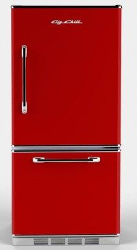Red retro refrigerator! Big Chill Refrig.