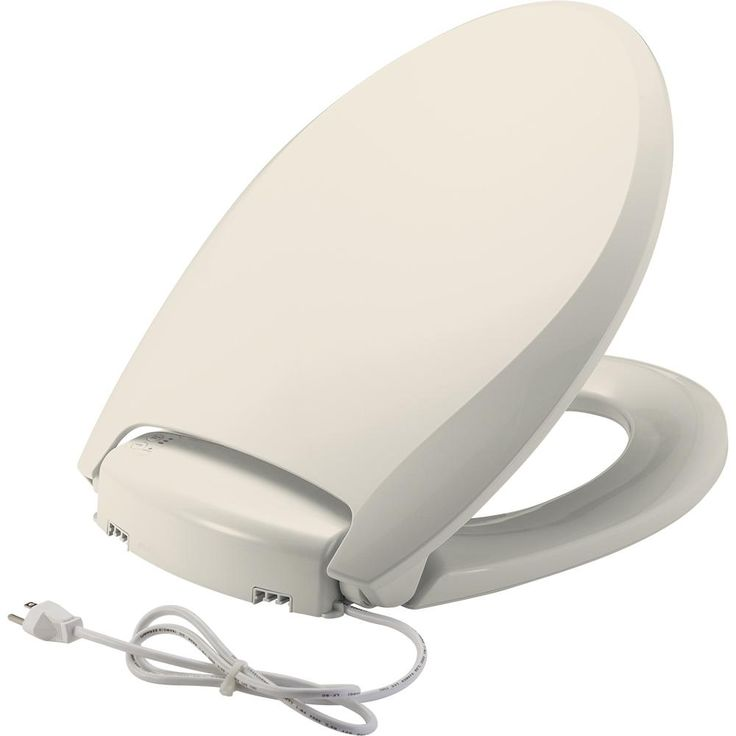 bemis radiance warming seat with night light whisper close precision seat fit