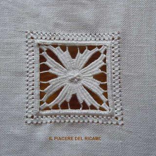 Il Piacere del ricamo: stelline cilaos (tutorial)