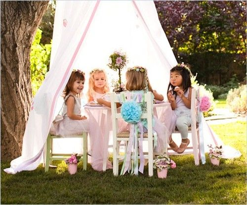 Tea pea tea party diy kids parties pinterest gardens little girls and girls - Backyard patio design ideas to accompany your tea time ...