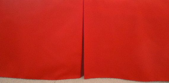 Solid Red Crib Skirt Crib. Fits Toddler's Bed. by PrettyThreads22