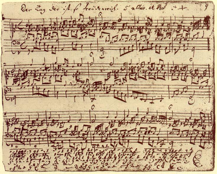 """Beethoven's """"Fantasy and Fugue"""" ~ original manuscript"""