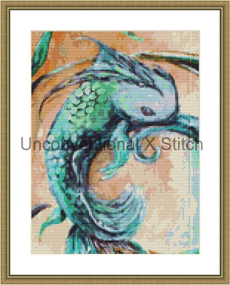 Fish cross stitch pattern - modern counted cross stitch - Ghoti Extract Mini - Licensed Angela AK Westerman by UnconventionalX on Etsy