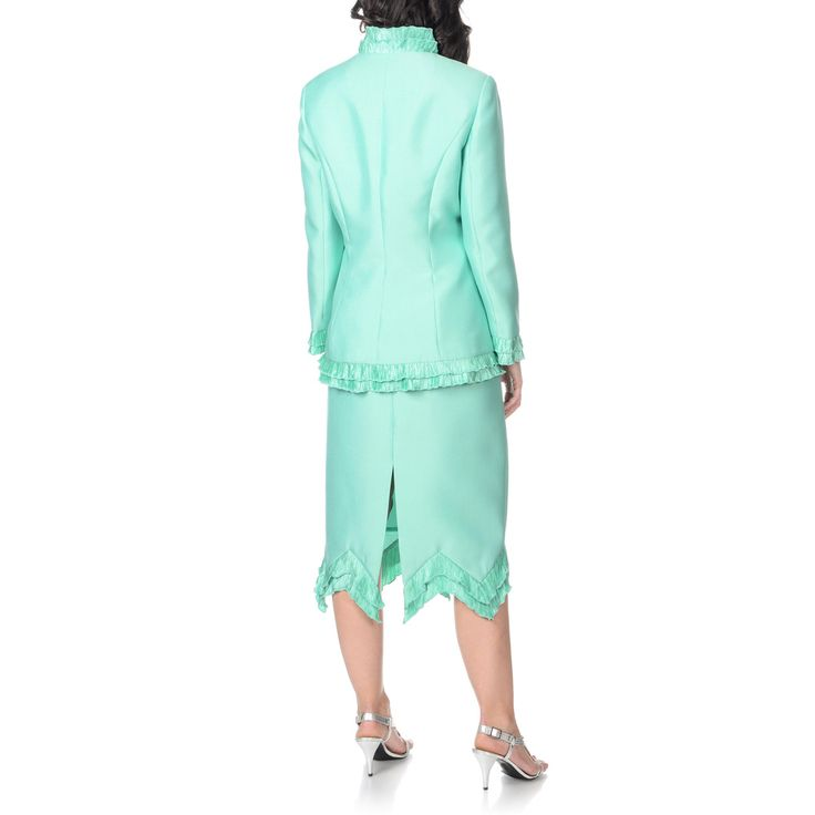 Giovanna Signature Women's Pleated Ruffle-trim 3-piece Skirt Suit - Overstock™ Shopping - Top Rated Giovanna Signature Skirt Suits