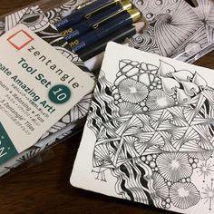 #zentangle #zendoodle #doodle #tangle #zenart #illustration #pendrawing #ペン画#ゼンタングル #イラスト #パターンアート #サクラクレパス