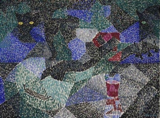 Gino Severini, The Black Cat, 1911