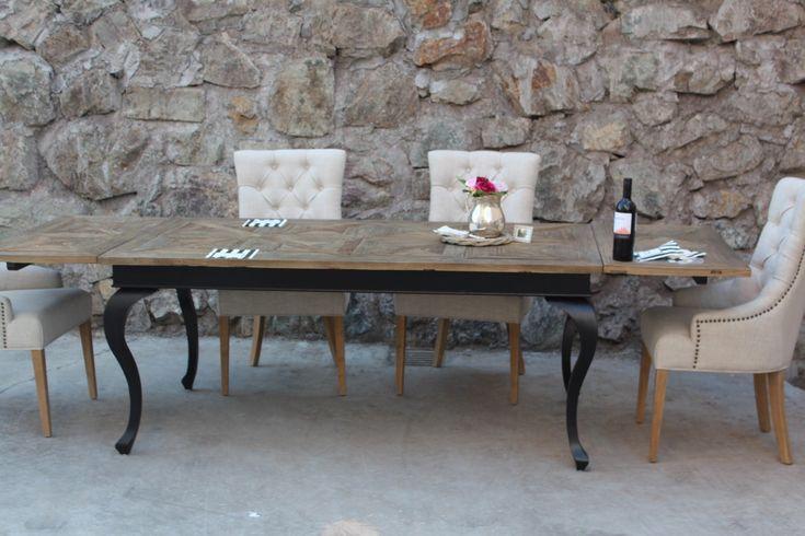 Paris Spisebord (Drivved+Sort) - Spisebord - Classic Living - Lekre møbler og dekor