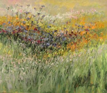 "Saatchi Art Artist Margaret Raven; Painting, ""Colors of July meadow"" #art"