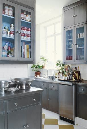 Painted Silver Cabinets On Pinterest Grey Cabinets Kitchen Cabinets